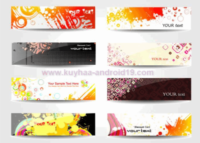 COLOR GLOSSY BANNER VECTOR